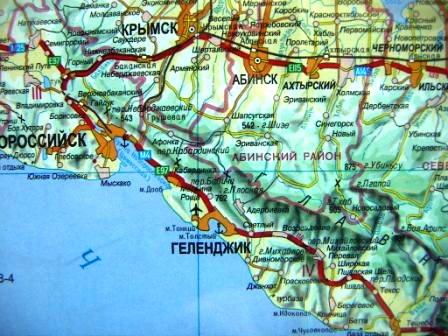Карта бухт Новороссийска и Геленджика